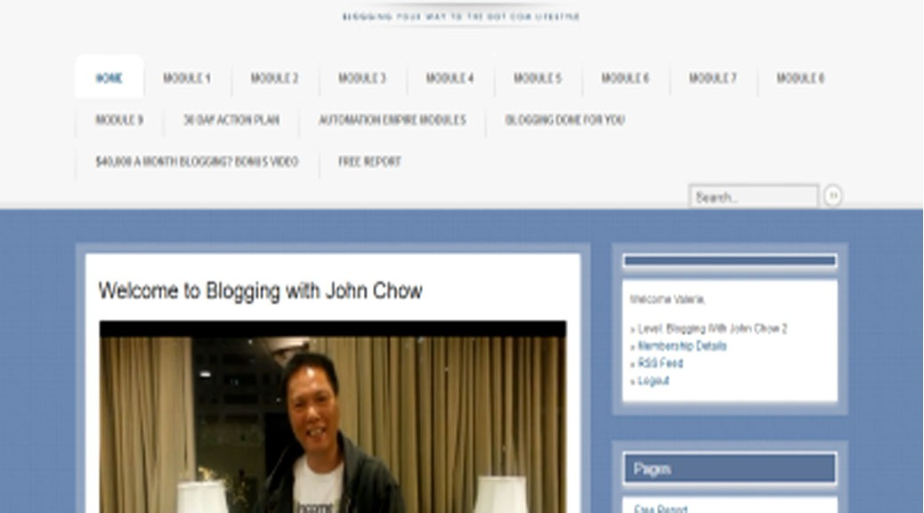 Review of Blogging with John Chow